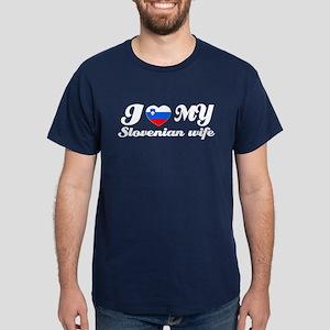 I love my Slovakian Wife Dark T-Shirt