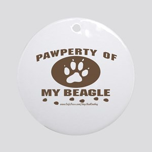 Pawperty Of My Beagle Keepsake (Round)