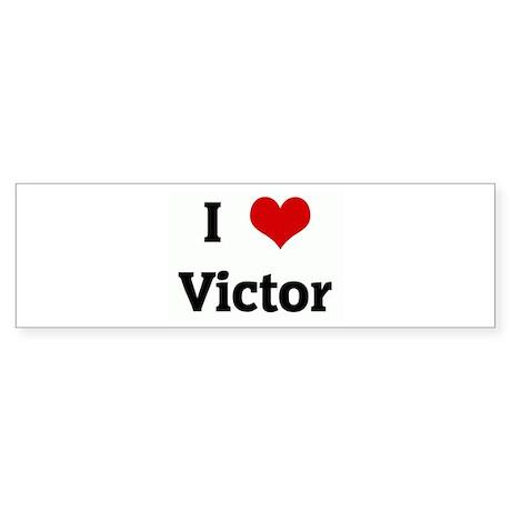 I Love Victor Bumper Sticker