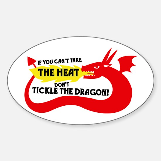 Don't Tickle the Dragon Oval Decal