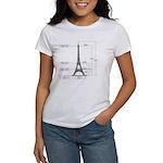 Dimensions of Eiffel Tower Women's T-Shirt