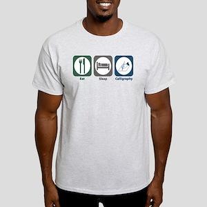 Eat Sleep Calligraphy Light T-Shirt