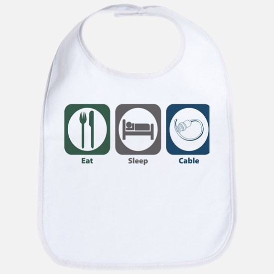 Eat Sleep Cable Bib