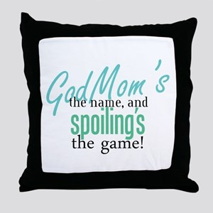 Godmom's the Name! Throw Pillow