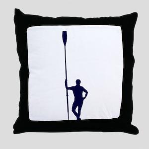 READY TO ROW BLUE Throw Pillow