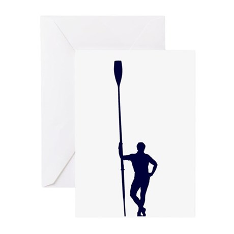READY TO ROW BLUE Greeting Cards (Pk of 20)