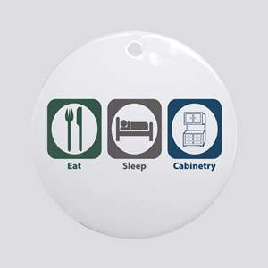 Eat Sleep Cabinetry Ornament (Round)