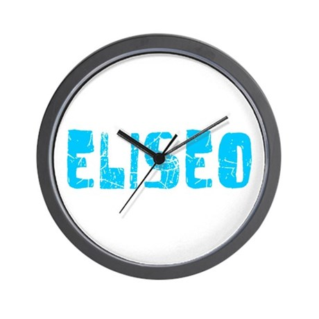 Eliseo Faded (Blue) Wall Clock