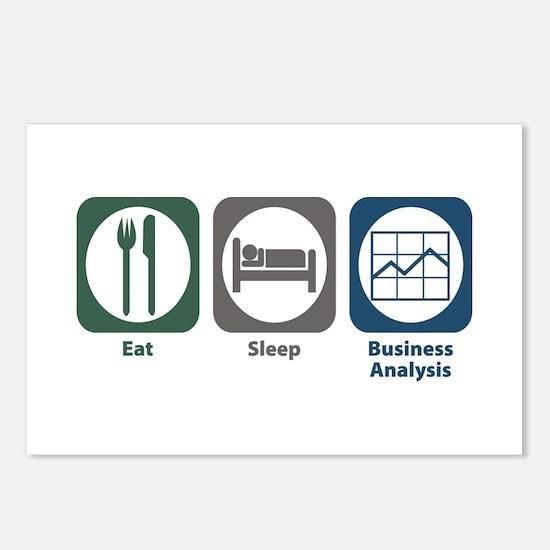 Eat Sleep Business Analysis Postcards (Package of