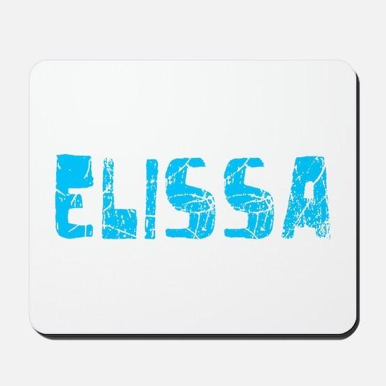 Elissa Faded (Blue) Mousepad