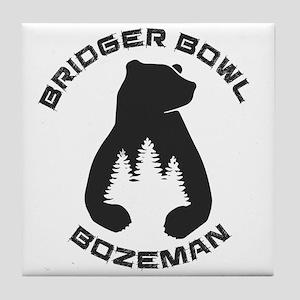 Bridger Bowl - Bozeman - Montana Tile Coaster