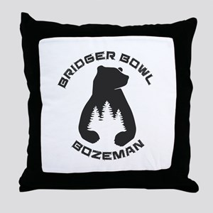 Bridger Bowl - Bozeman - Montana Throw Pillow