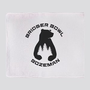 Bridger Bowl - Bozeman - Montana Throw Blanket