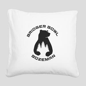 Bridger Bowl - Bozeman - Mo Square Canvas Pillow