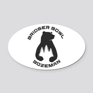 Bridger Bowl - Bozeman - Montana Oval Car Magnet