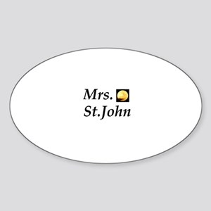 Mrs. St. John Oval Sticker