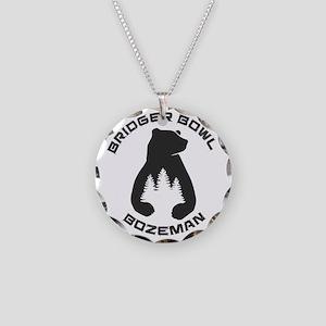 Bridger Bowl - Bozeman - M Necklace Circle Charm