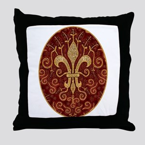 Fleur de Lis Treasure Throw Pillow
