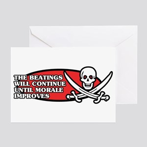 Beatings will Continue Greeting Cards (Pk of 10)