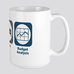 Eat Sleep Budget Analysis Large Mug