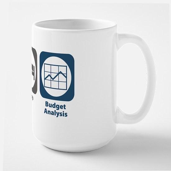 Eat Sleep Budget Analysis Large Mug