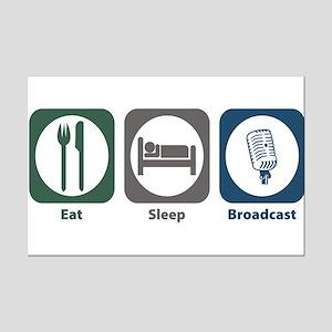 Eat Sleep Broadcast Mini Poster Print