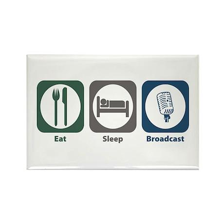 Eat Sleep Broadcast Rectangle Magnet (10 pack)