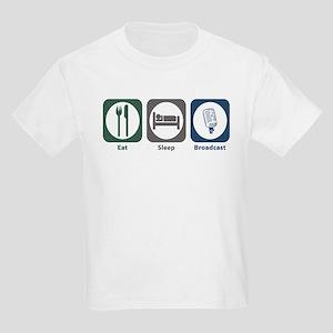 Eat Sleep Broadcast Kids Light T-Shirt