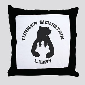 Turner Mountain - Libby - Montana Throw Pillow