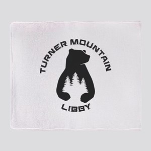 Turner Mountain - Libby - Montana Throw Blanket