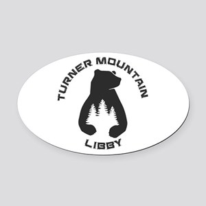 Turner Mountain - Libby - Montan Oval Car Magnet