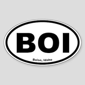 Boise, Idaho Oval Sticker