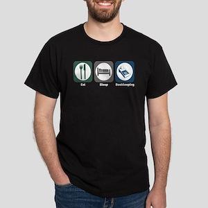 Eat Sleep Bookkeeping Dark T-Shirt
