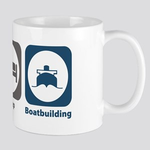 Eat Sleep Boatbuilding Mug