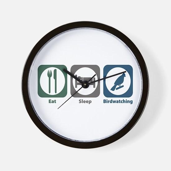 Eat Sleep Birdwatching Wall Clock