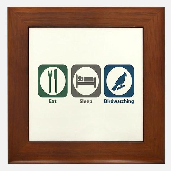 Eat Sleep Birdwatching Framed Tile