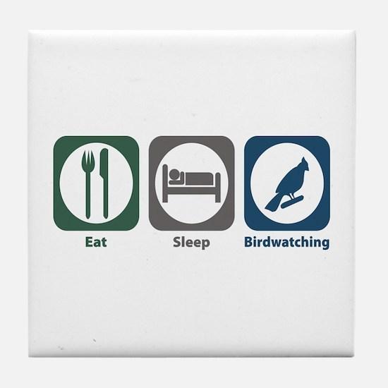 Eat Sleep Birdwatching Tile Coaster