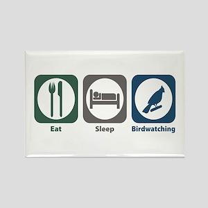 Eat Sleep Birdwatching Rectangle Magnet