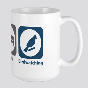 Eat Sleep Birdwatching Large Mug