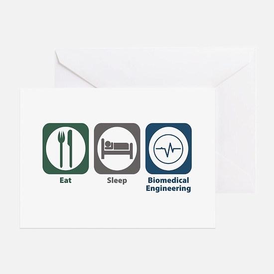 Eat Sleep Biomedical Engineering Greeting Card