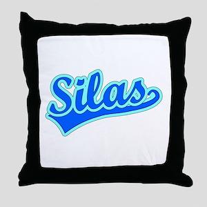 Retro Silas (Blue) Throw Pillow