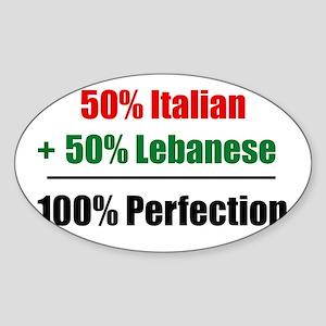 Half Italian, Half Lebanese Rectangle Sticker