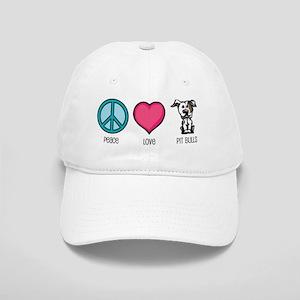 Peace Love & Pit Bulls Cap
