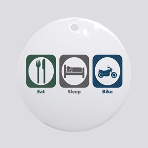 Eat Sleep Bike Ornament (Round)