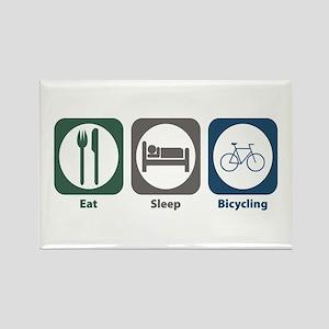 Eat Sleep Bicycling Rectangle Magnet