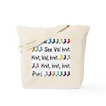 See Val Knit Tote Bag