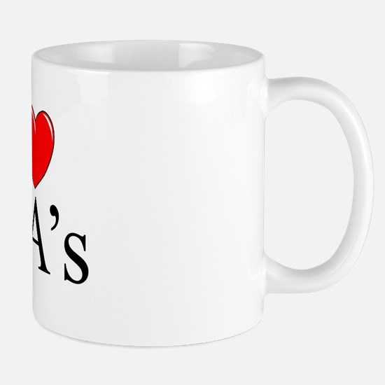 """I Love (Heart) IRA's"" Mug"