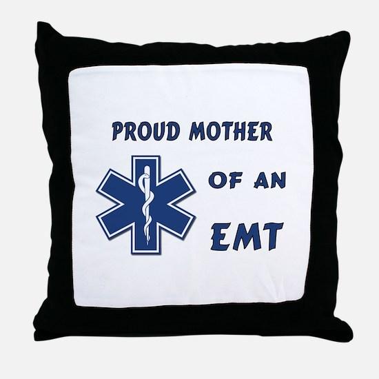 Proud Mother of an EMT Throw Pillow