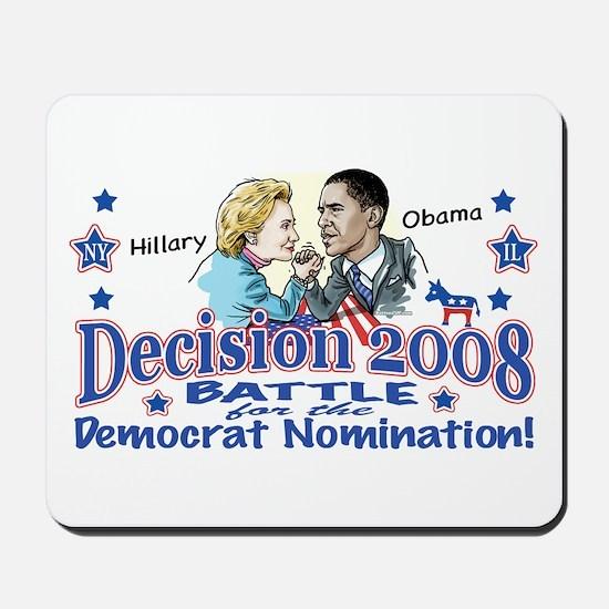 Hillary vs Obama 2008 Mousepad