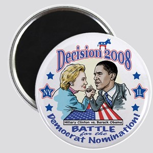 Hillary vs Obama 2008 Magnet